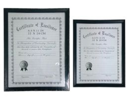 """24 Units of 8.5"""" X 11"""" Black Certificate Frame - Picture Frames"""