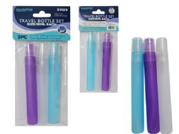 96 Wholesale Travel Bottle 10ml/0.34oz 3pc /Set
