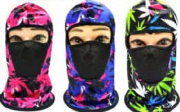 72 Units of Colorful Hooded Hat with Face Covering - Winter Beanie Hats