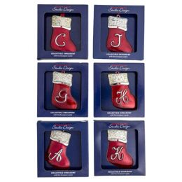 48 Units of Silver Plated Stocking Ornament - Christmas Stocking