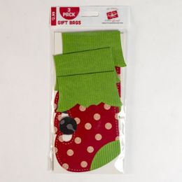 72 Units of Stocking Gift Card Holder 3pk - Gift Bags Assorted