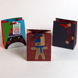 72 Units of Christmas Small Gift Bag - Gift Bags Assorted