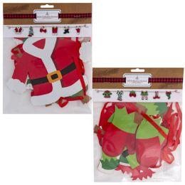 36 Wholesale Garland Santa/elf Clothesline