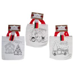 36 Units of Treat Bag Diy Tote W/4 Mini - Gift Bags Assorted