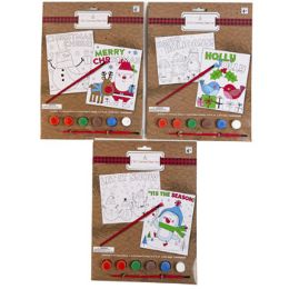 24 Units of Coloring Paint Set Christmas - Coloring & Activity Books