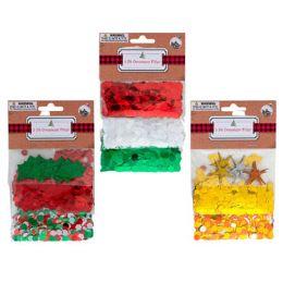 36 Units of Ornament Filler Confetti 3pk - Christmas Ornament