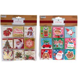 36 Units of Gift Tag 18ct Christmas 2ast - Gift Bags Assorted
