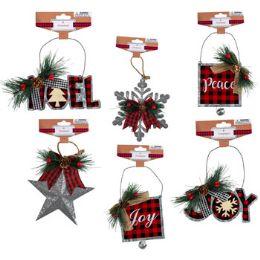 36 Units of Ornament Galvanized 6ast - Christmas Ornament