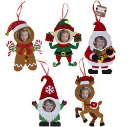 30 Units of Photo Ornament Felt 5ast 10x6in - Christmas Ornament