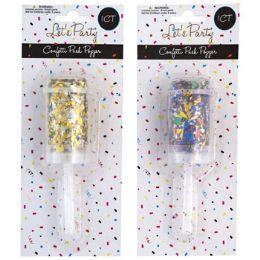 36 Wholesale Confetti Push Popper 2ast