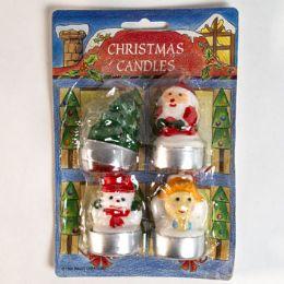 72 Wholesale Christmas Tealight 4pk Assorted