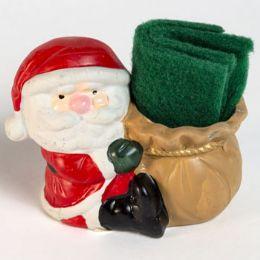 72 Wholesale Sitting Santa Dish Scrubber