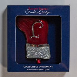 42 Units of Silver Plated Stocking Ornament - Christmas Stocking