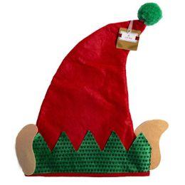 24 Wholesale Elf Hat W/ears Sequin Cuff &