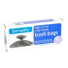 12 Units of Trash Bags 8ct 30gallon 2ply - Garbage & Storage Bags