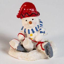 72 Wholesale Snowman Santa Ice Skate Figurine
