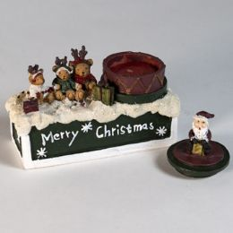 72 Wholesale Santa And Freinds Canddle Holder