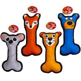 36 Wholesale Dog Toy Canvas Bone 9.5 Inch