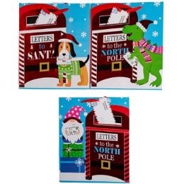 36 Units of Gift Bag Xmas Large Letters to - Gift Bags Assorted