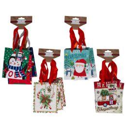 72 Units of Gift Bag Small 3pk Christmas - Gift Bags Assorted