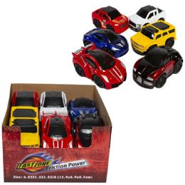 24 Wholesale Car Toy 6ast Lg Friction Power