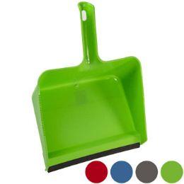 24 Units of Dust Pan Jumbo W/rubber Lip - Dust Pans