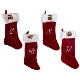 50 Wholesale Monogram Christmas Stocking
