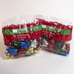50 Units of Christmas Gift Bows Asst 30ct - Christmas Gift Bags and Boxes