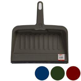 24 Units of Dust Pan W/rubber Lip 12in - Dust Pans