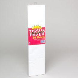 24 Wholesale Tissue Paper 30ct White 20x20