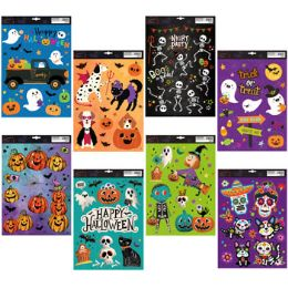 48 Units of Window Cling Halloween 8asst - Hanging Decorations & Cut Out