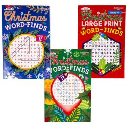 48 Wholesale Word Find Christmas 3asst