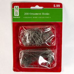 99 Units of Ornament Hooks 200ct Silver - Christmas Ornament