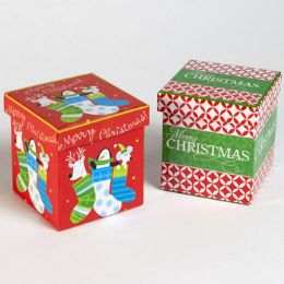 42 Units of Small Christmas Gift Box - Gift Bags Assorted