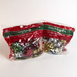 42 Units of Christmas Gift Bows Asst 15ct - Christmas Gift Bags and Boxes