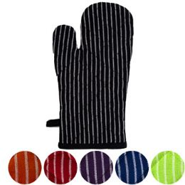 24 Units of Oven Mitt 6ast Solid Color w/ - Oven Mits & Pot Holders