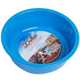 48 Units of Pet Bowl Small Blue W/paw Design - Pet Supplies
