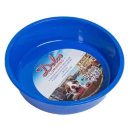 24 Units of Pet Bowl Large Blue W/paw Design - Pet Supplies