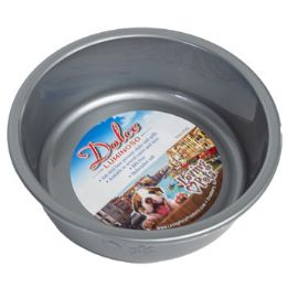 48 Units of Pet Bowl Small Silver W/paw Dsgn - Pet Supplies