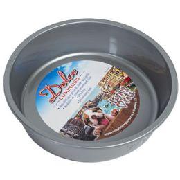 24 Units of Pet Bowl Large Silver W/paw - Pet Supplies