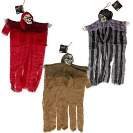 24 Units of Shrouded Skull Hanging Decor - Halloween & Thanksgiving