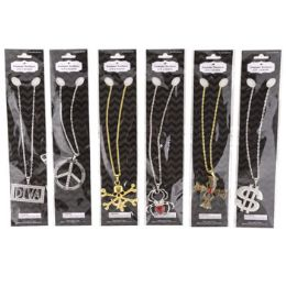 48 Units of Costume Necklace Halloween 6ast - Halloween & Thanksgiving