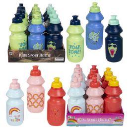 24 Wholesale Sports Bottle Kids 12oz 2-12pc