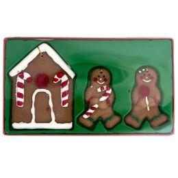 144 Units of Gingerbread Wax Ornaments 3ct - Christmas Ornament