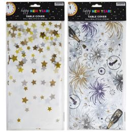 24 Wholesale Tablecover New Year 54 X 108in