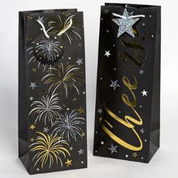 36 Units of Wine Paper Gift Bag New Year - Gift Bags Assorted
