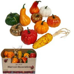 30 Units of Harvest Pumpkin/gourd/corn 10ast - Halloween & Thanksgiving