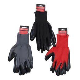 48 Units of Gloves Work Nitrile Coated - Leather Gloves