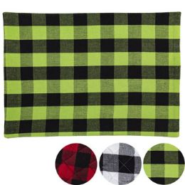 24 Units of Placemat Buffalo Check Pattern - Placemats and Doilies