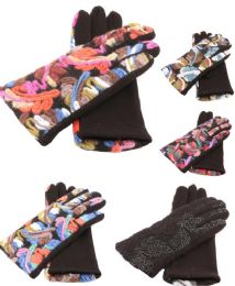 36 Units of Women's Winter Glove Warm with Knitted Colorful Design - Winter Gloves